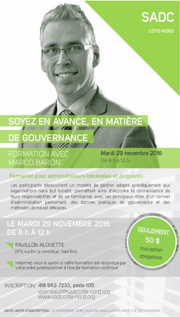 formation gouvernance - Marco Baron