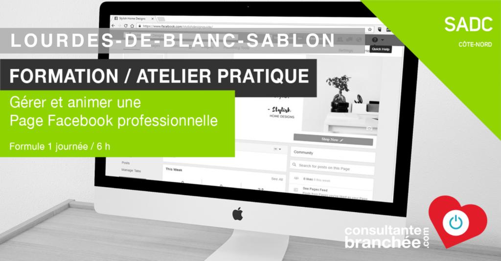 Formation Facebook Blanc Sablon