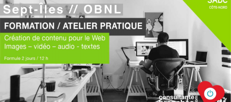 FORMATION // Création Contenu pour le Web // OBNL