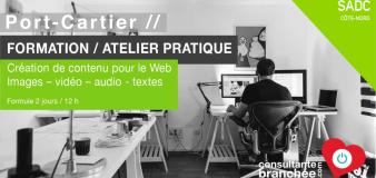 FORMATION // CRÉATION CONTENU POUR LE WEB // Port-Cartier